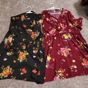 2 dresses from old Navy one large one extra large